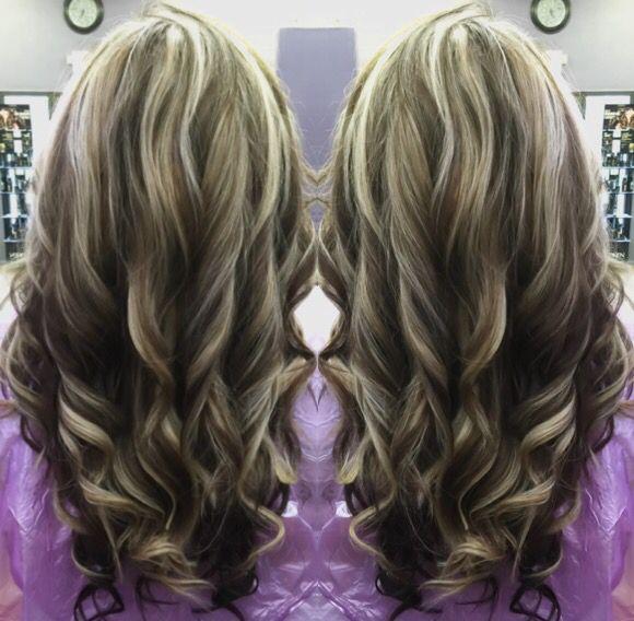 Dark Brown Lowlights And Light Blonde Highlights On Golden Blonde