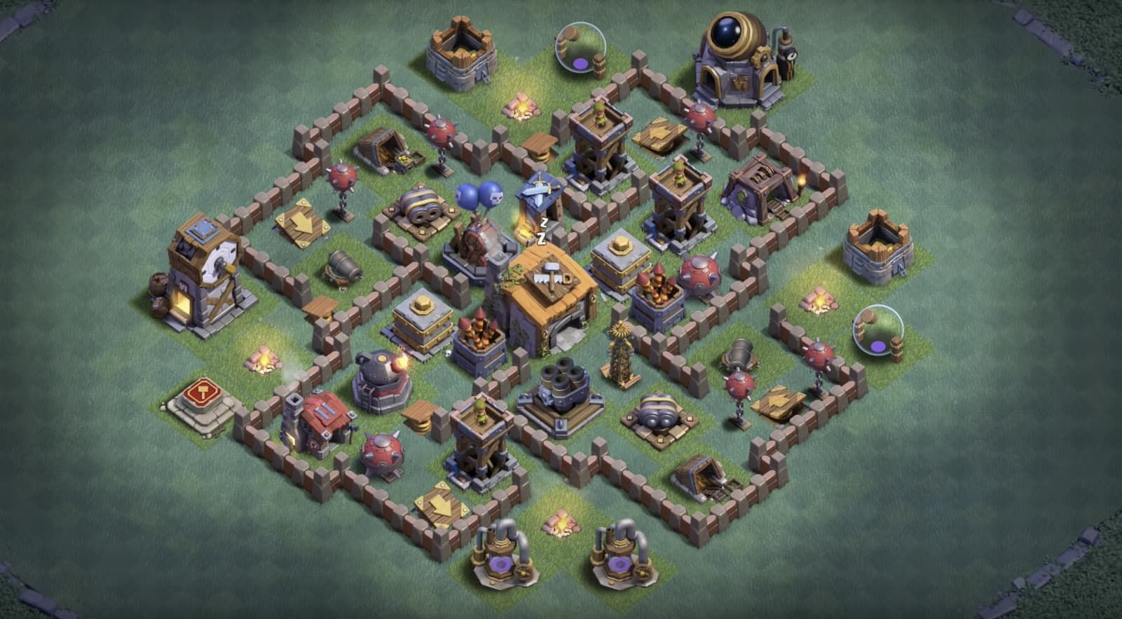 Bh6 Base Layouts 8211 Builder Base 6 Designs Layout Coc Clash Of Clans Skulls Drawing