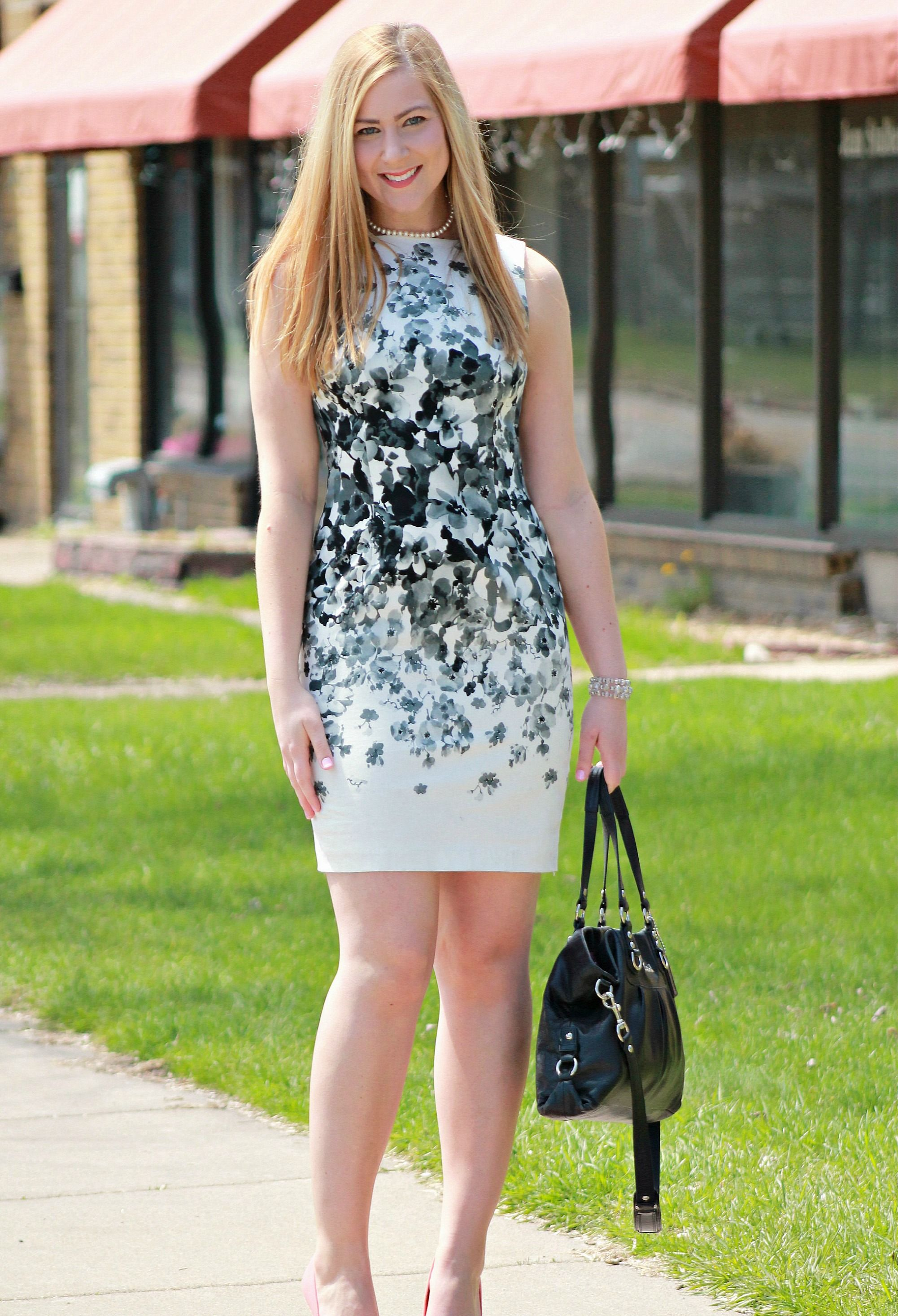 Black and white floral dress my style rachels lookbook black and white floral dress mightylinksfo