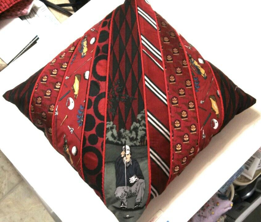 Pillow I Made With Men S Ties For My Nephews 10th Bday