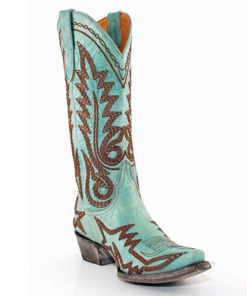 "Old Gringo Nevada Heavy 13"" Aqua Boots"
