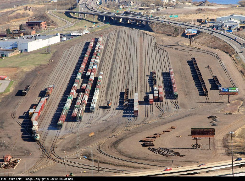 Train Yard Rice39s Point Duluth Minnesota Usa April 12
