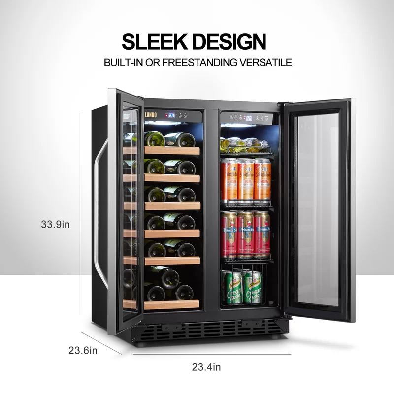 18 Bottle And 55 Can Dual Zone Freestanding Wine And Beverage Refrigerator In 2021 Beverage Refrigerator Wine Coolers Drinks Beverage Cooler