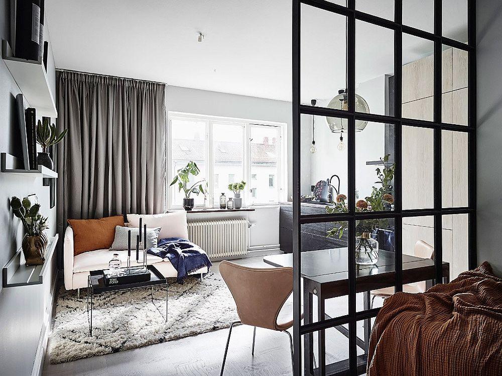 Skandinavischer Stil maximiert den Raum in winzigen 26 Quadratmeter ...
