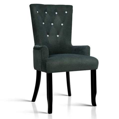 Artiss French Provincial Dining Chair - Grey   Dining Chairs