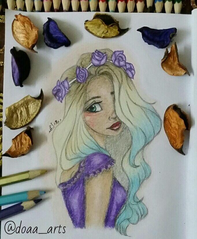 رسمة بالالوان الخشبية دعاء أحمد Art Beautiful Drawings Drawings