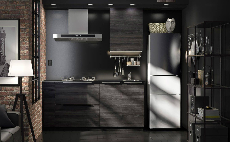 Schwarz In Schwarz: Dunkle Küchen Idee Von IKEA. So Leicht Lässt Sich Der