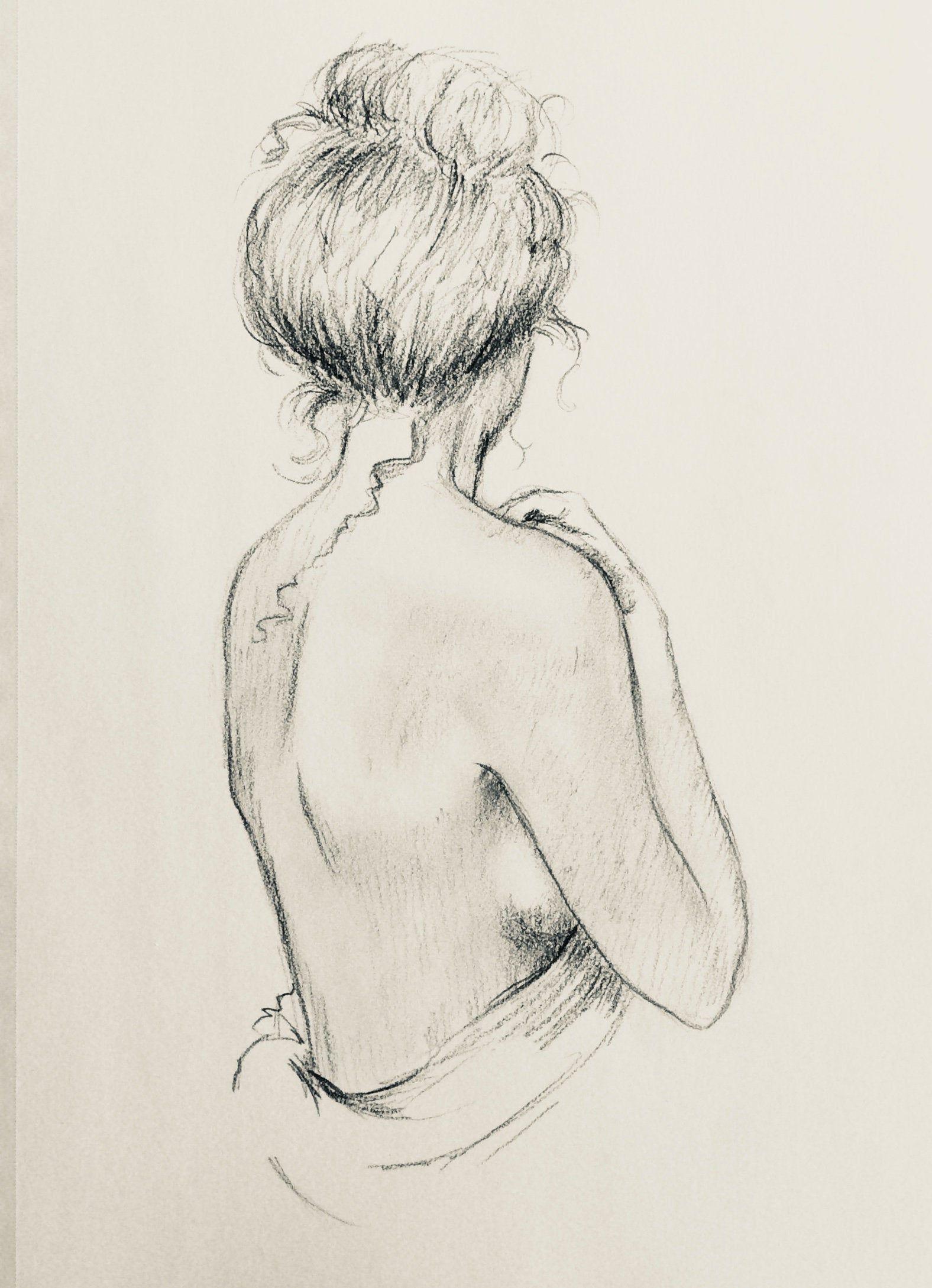 Nude Woman Print Drawing Figurative