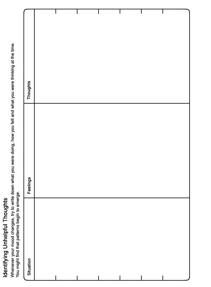 MOODJUICE Identifying Unhelpful Thoughts Worksheet Selfhelp – Thought Stopping Worksheet