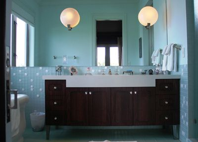 Guestbath I Know Valerie C Thinks Have Alot Of Aqua But Think A Nice Or Teal Will Help The Brown In Guest Bath