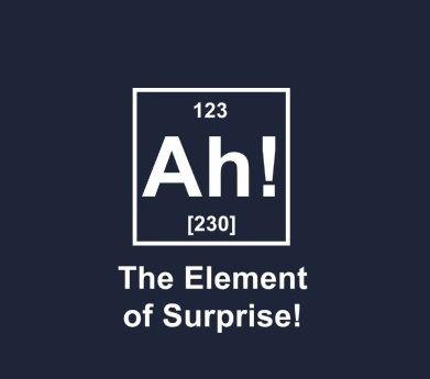 :-)  Surprising people...