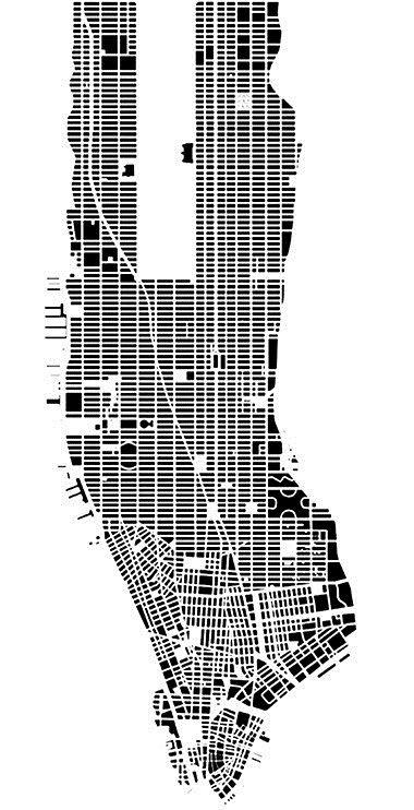 Manhattan Nolli Plan Avlu City Grid Grid Architecture Urban