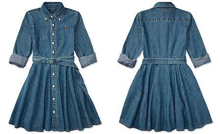 282f41e4291 Ralph Lauren Denim Fit   Flare Cotton Shirtdress