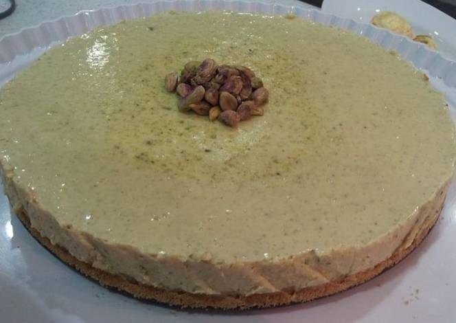 طريقة عمل تشيز كيك الفستق الحلبي بالصور من Zeinab Barakat Recipe Food Desserts Pudding