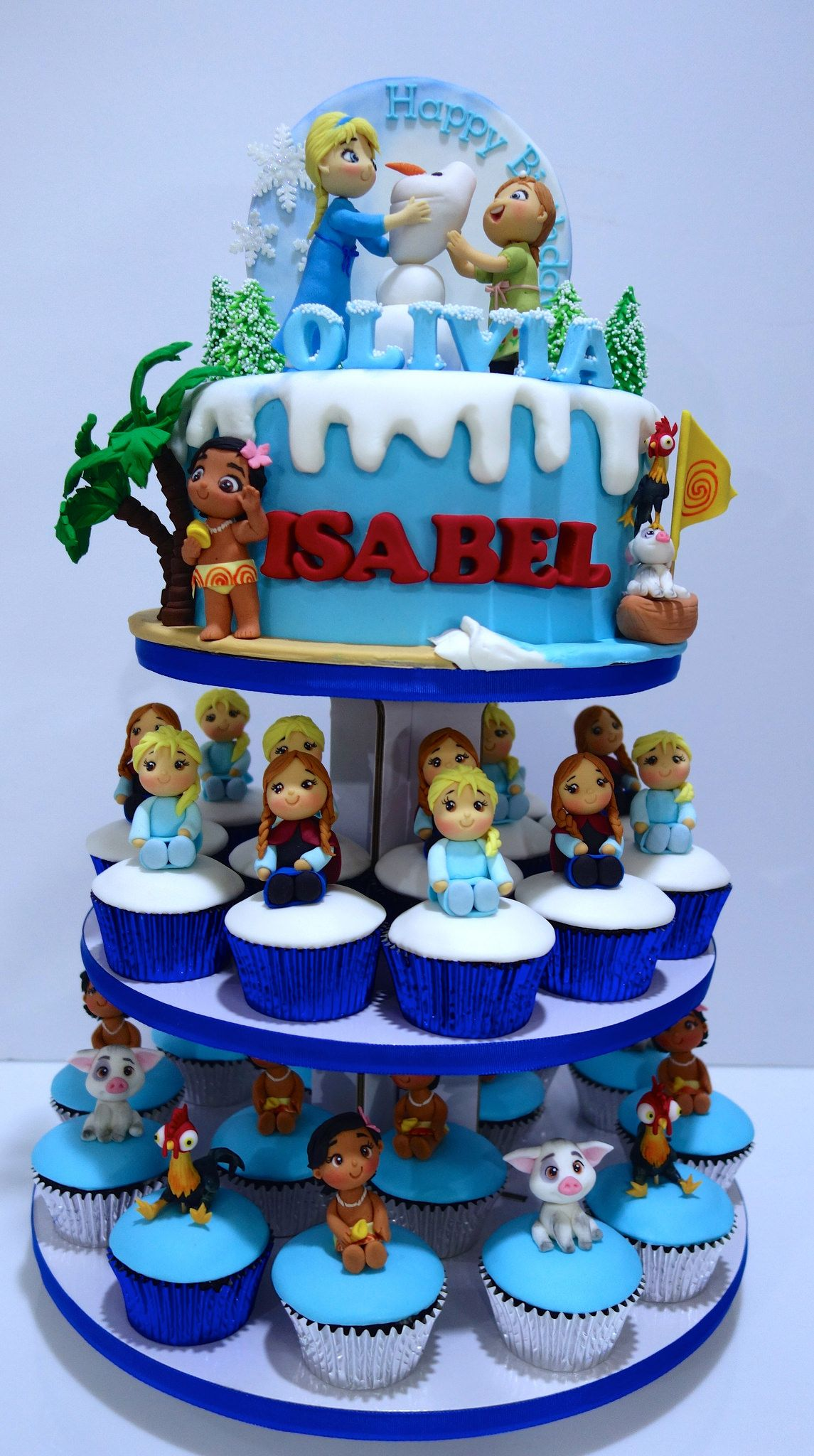 moana and frozen cupcake tower | little miss oc\'s kitchen cakes ...