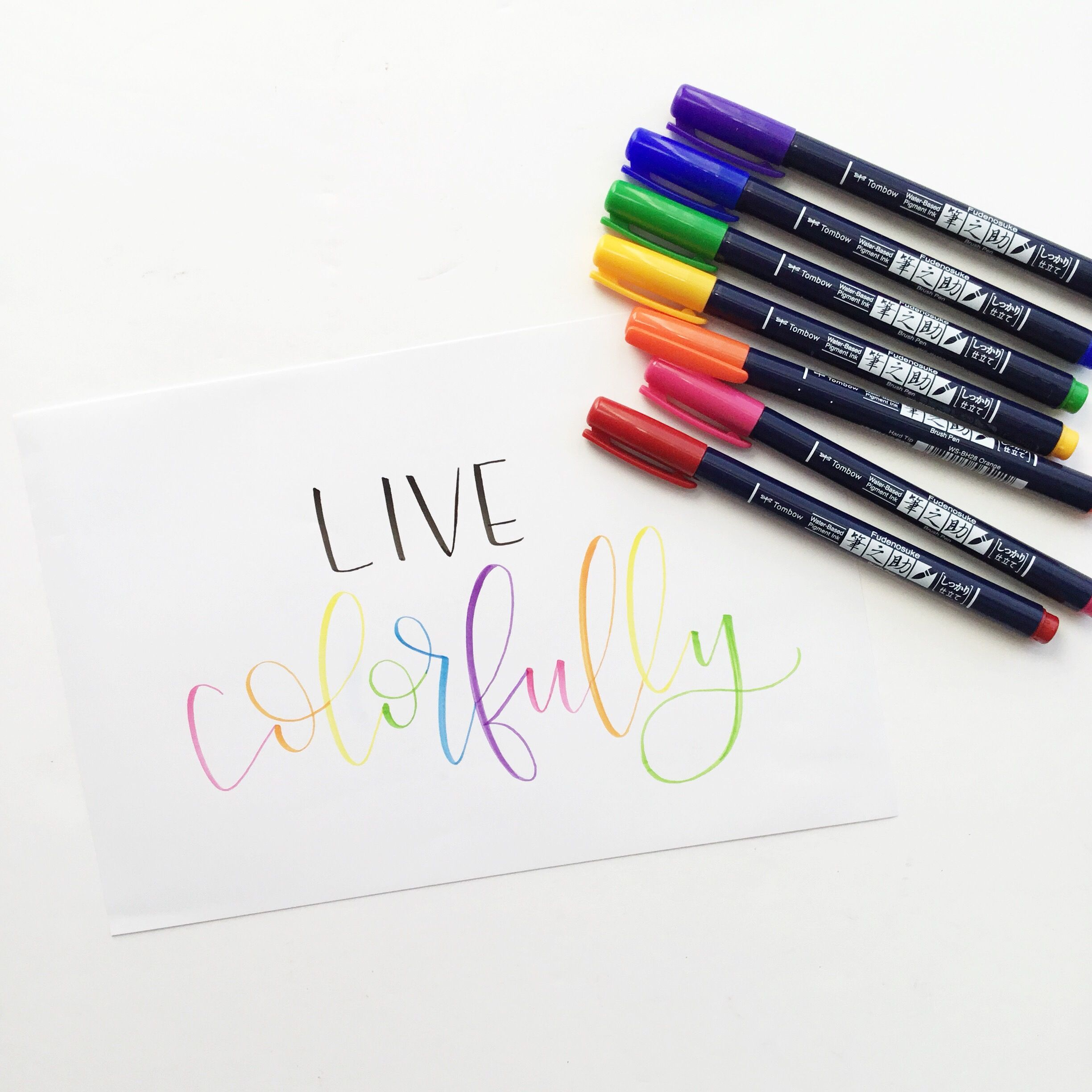 Tombow Fudenosuke Colors Are Here