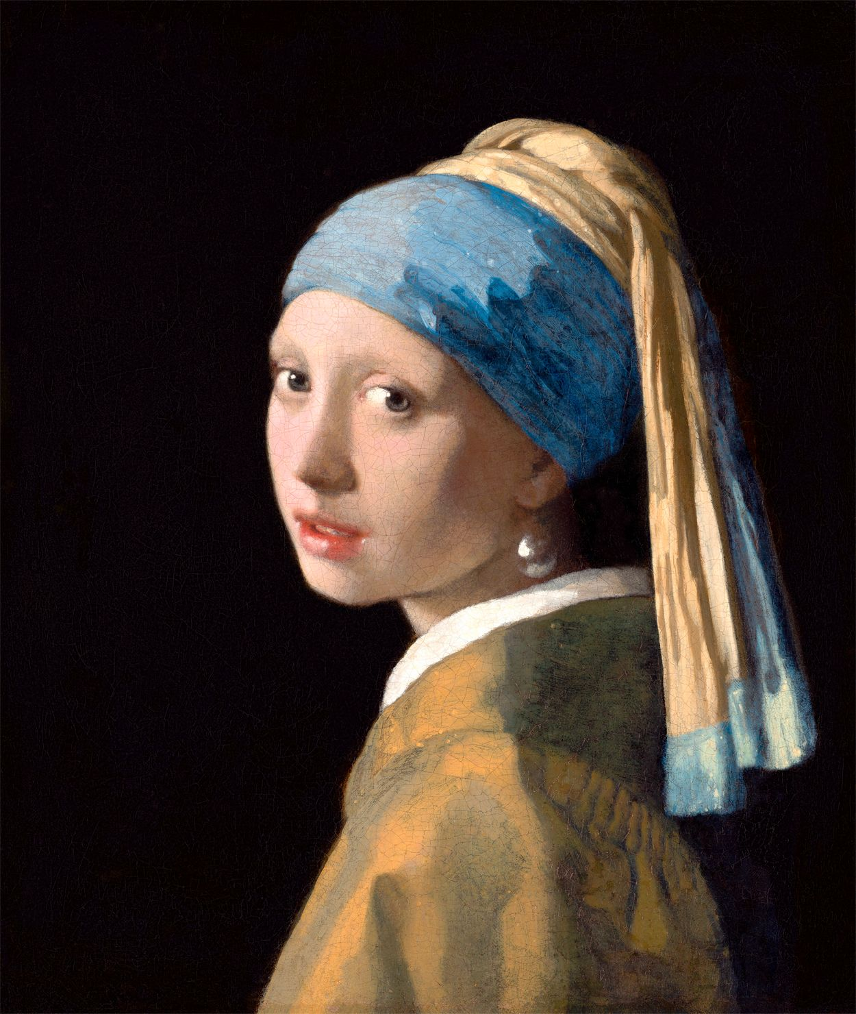 'Girl with a Pearl Earring - Johannes Vermeer' Poster by opheliashop