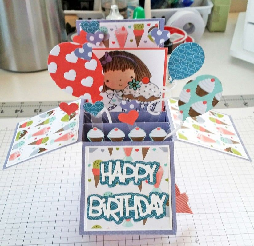 Balloons and Cupcakes! by tjacoby98 - Cards and Paper Crafts at Splitcoaststampers