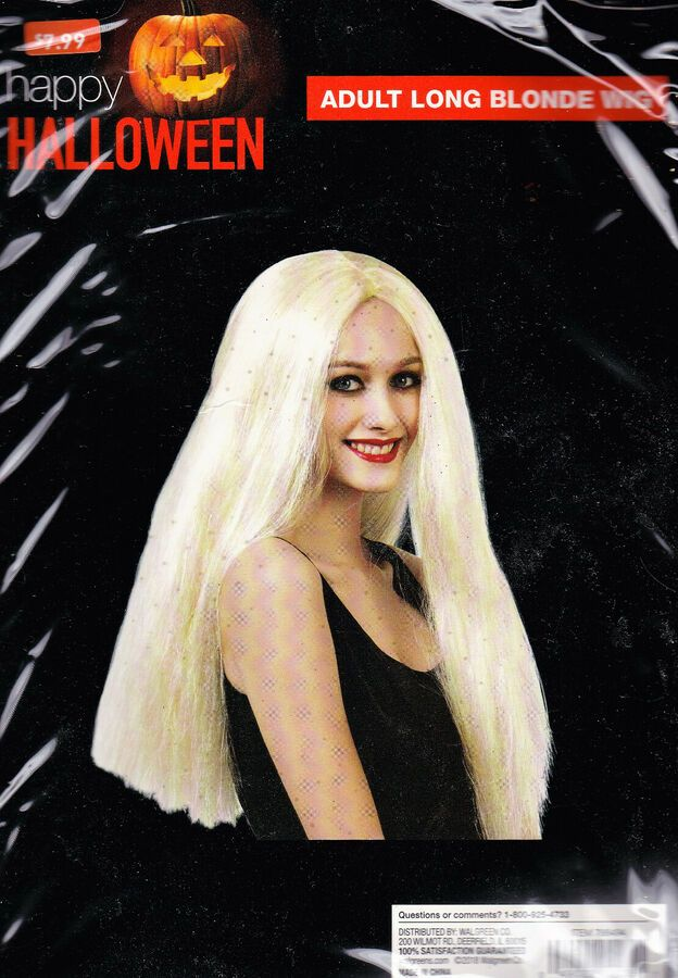 Happy Halloween Adult Witch Wig Long Blonde Hair 788494 New With Tags 49022020351 Ebay Long Blonde Hair Adult Halloween Witches Halloween Party