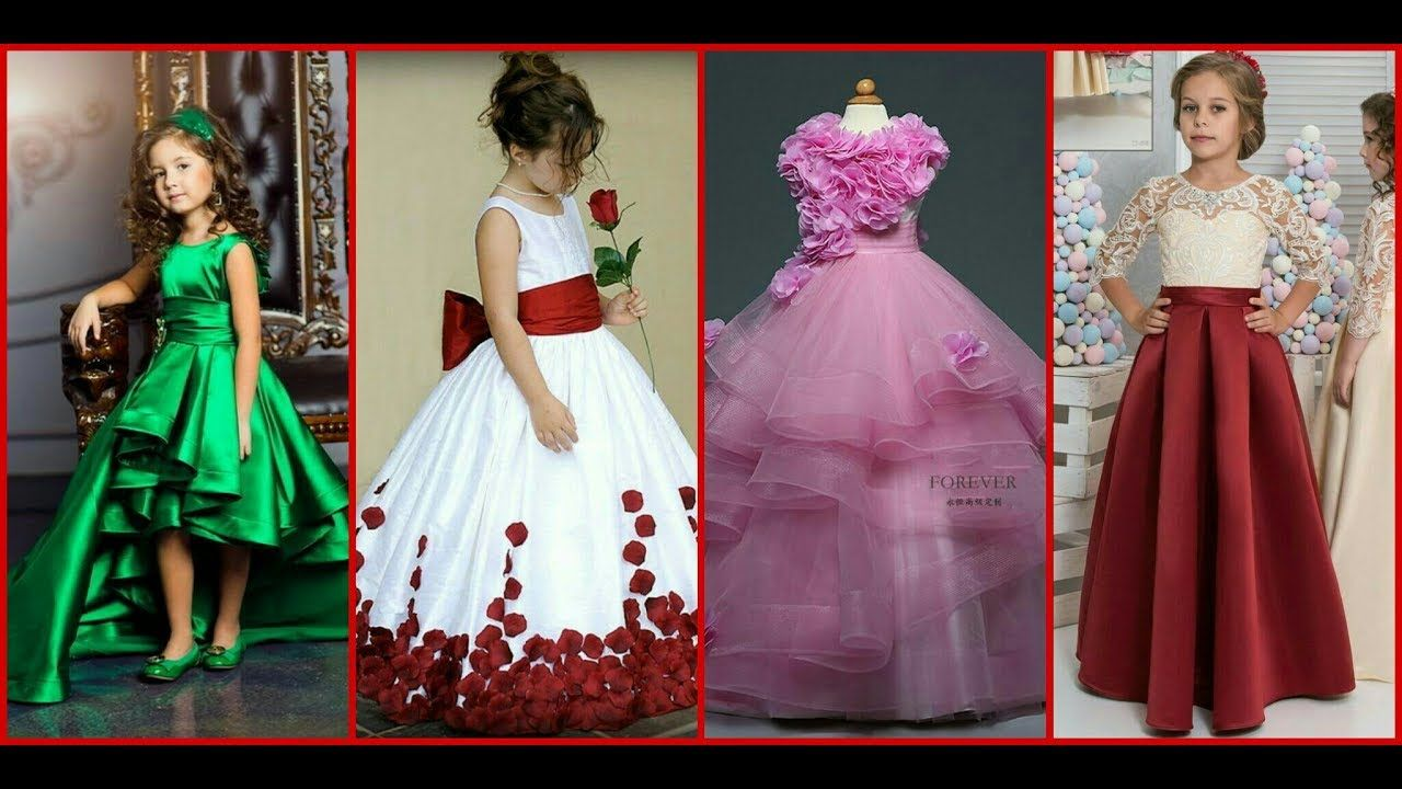 Latest Designs For Kids Gown Dresses Long Frocks Fashion