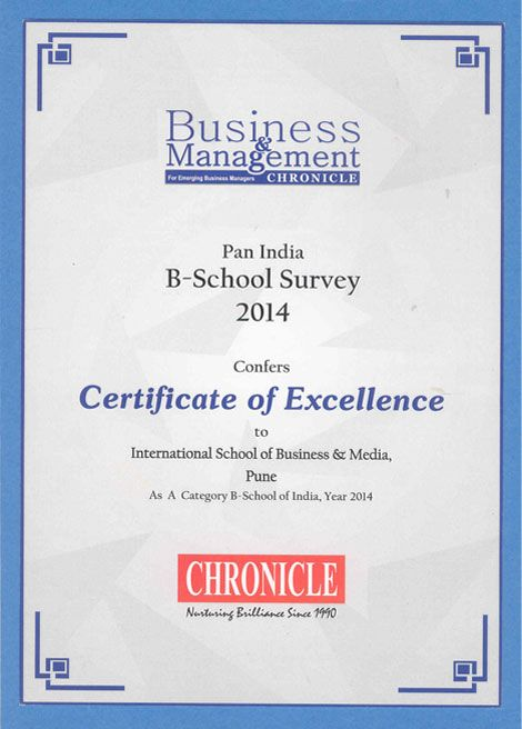 Certificate Of Excellence To International School Of Business