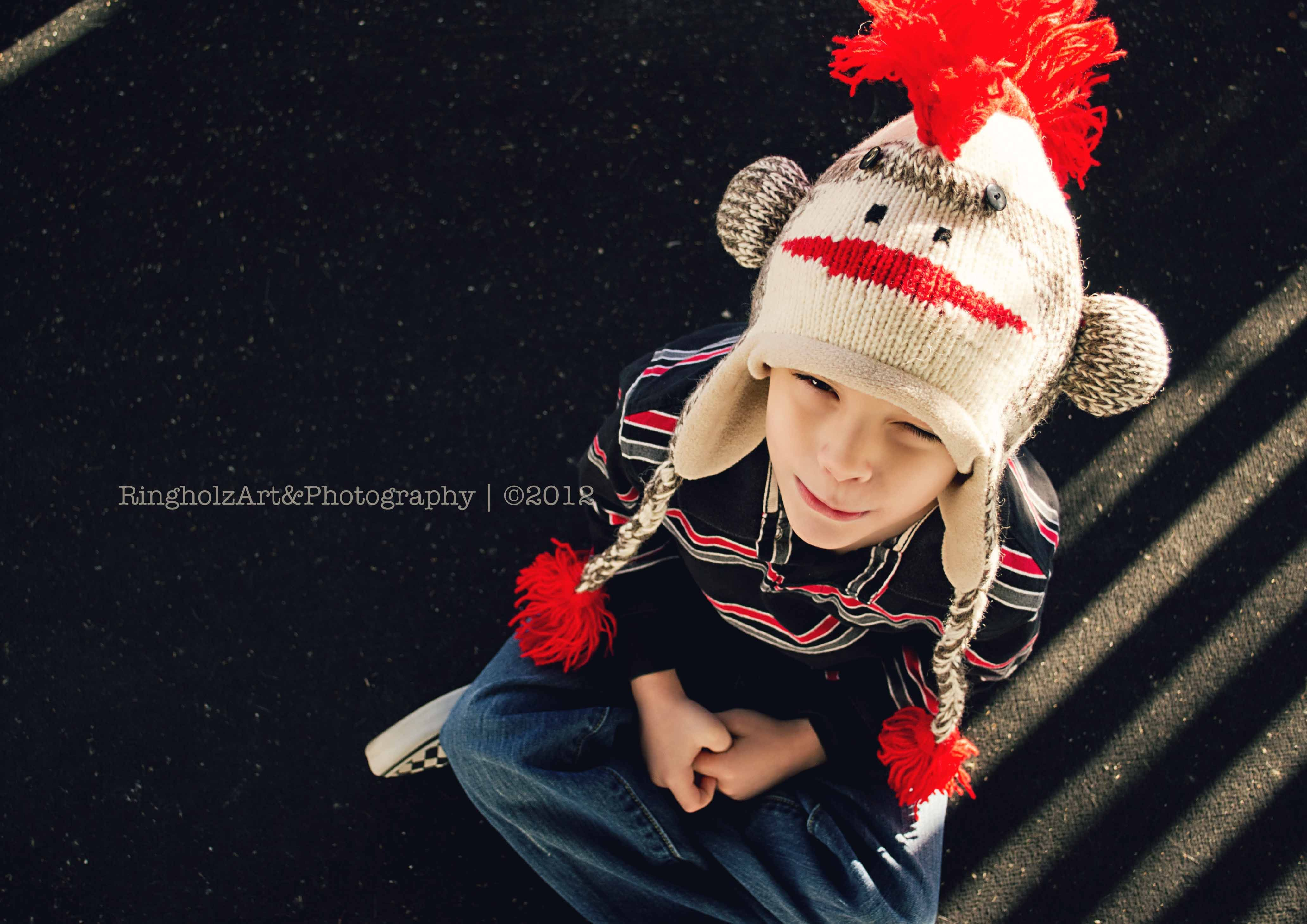 Just love his monkey mohawk hat uc ringholz art u photography
