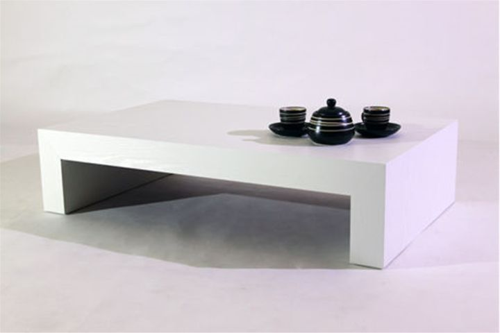 Coffee table, First H21, White Ash, 90X54X21cm Coffe table, Living