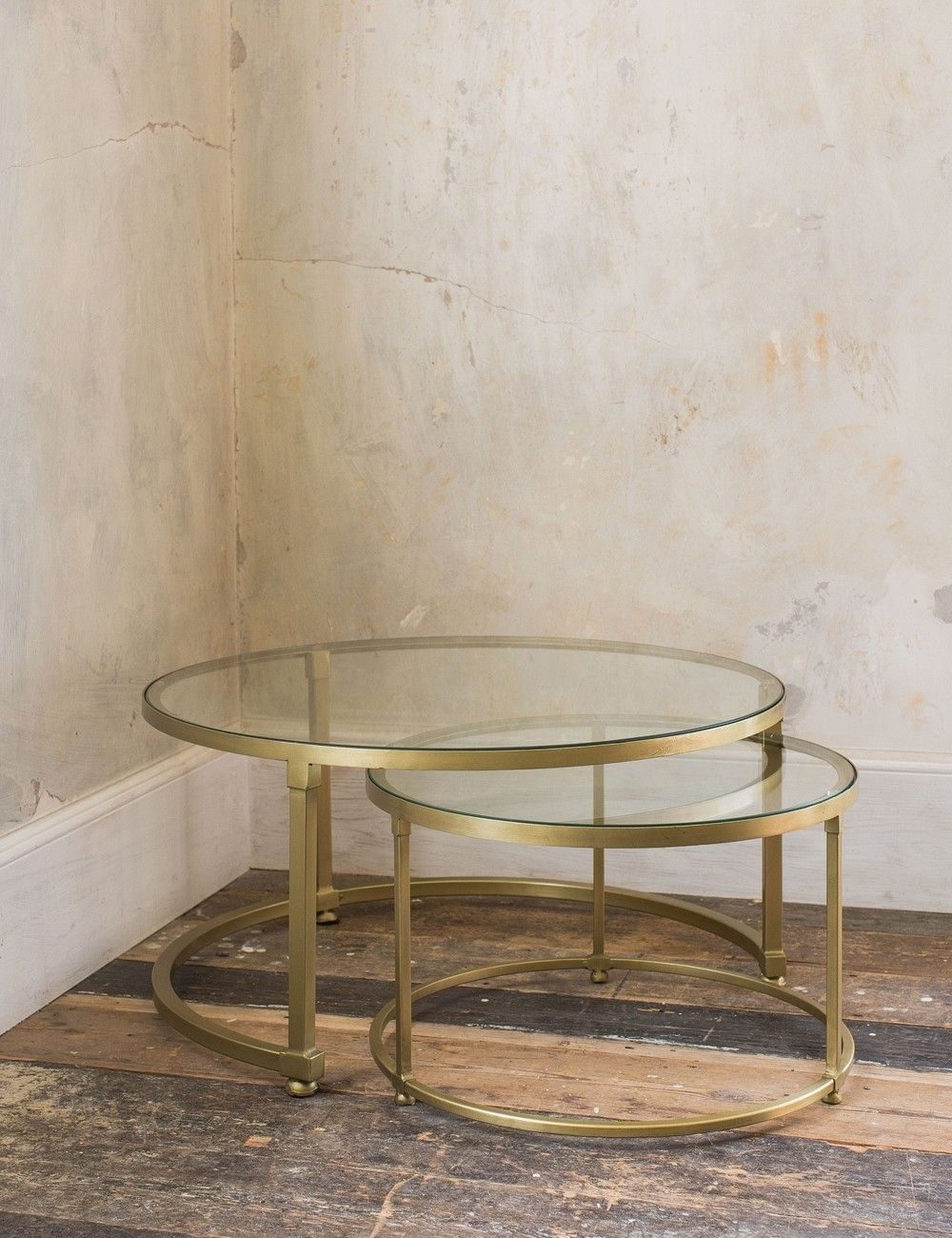 Coco Nesting Round Glass Coffee Tables Round Glass Coffee Table