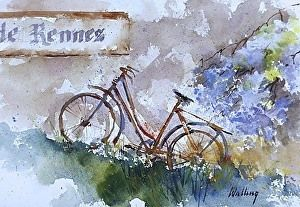 """The Old Bicycle"" - by Neil Walling.... ~Watercolor"