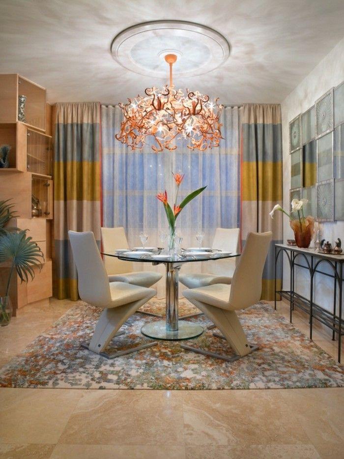 Les doubles rideaux autant de belles id es archzine - Rideaux salle a manger salon ...