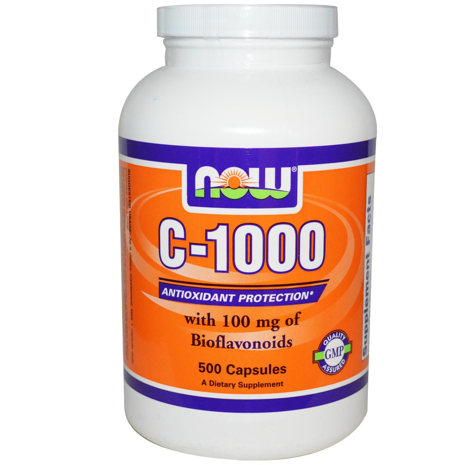 Now Foods, C1000, With 100 mg of Bioflavonoids, 500 Veg