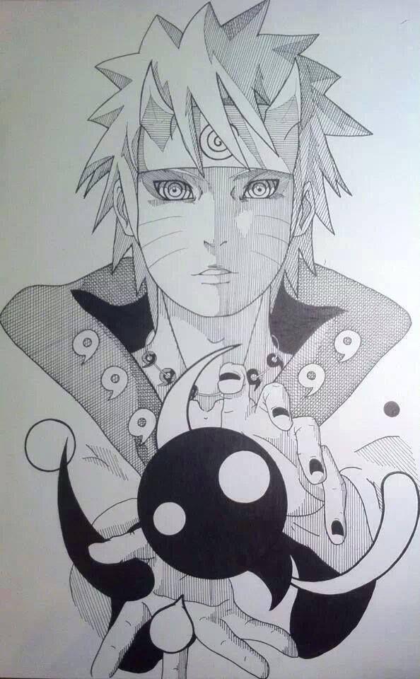 Naruto As Sage Of Six Paths With Images Naruto Drawings Anime