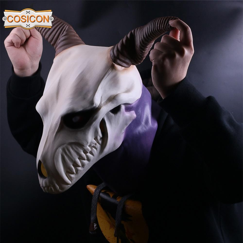 Cosplay The Ancient Magus/' Bride Elias Ainsworth Mask Horn Latex Mask Handmade