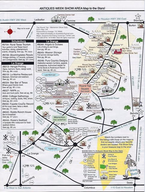 HWY 237: The Antique Heaven Highway | Round top texas, Texas ... Map Of Round Top Shopping on santa fe shopping map, new braunfels shopping map, austin shopping map, the woodlands shopping map,