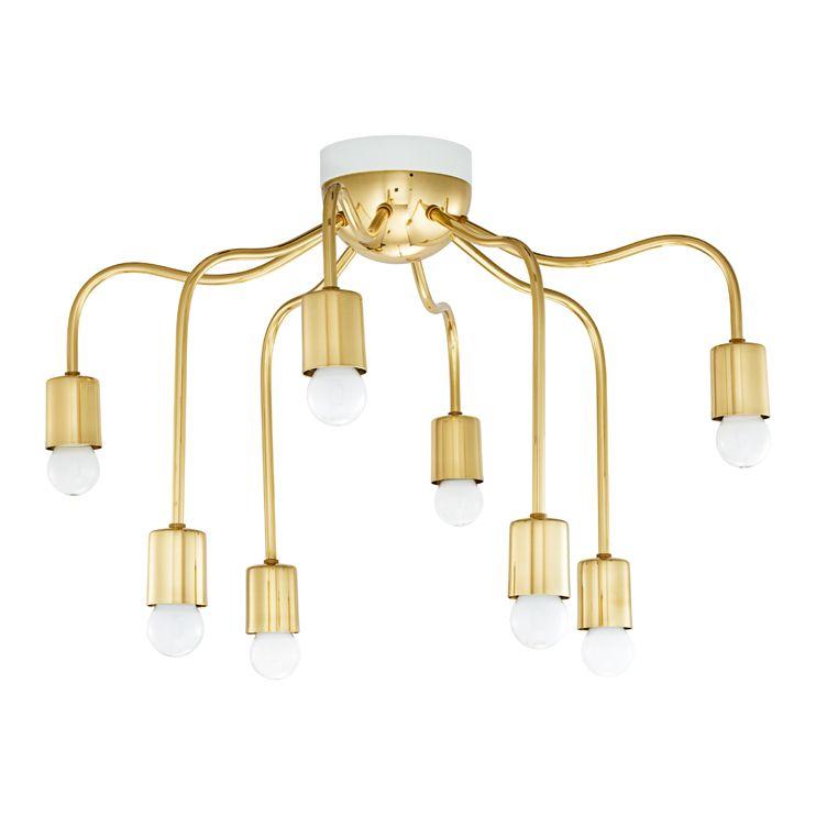 Taklampa 2358 mässing svenskt tenn brass ceiling lightbrass