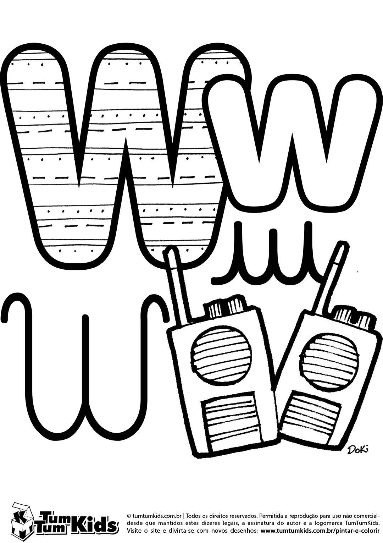 doki-alfabeto-letra-w-imprimir   abecedario by Shirley Revolorio ...