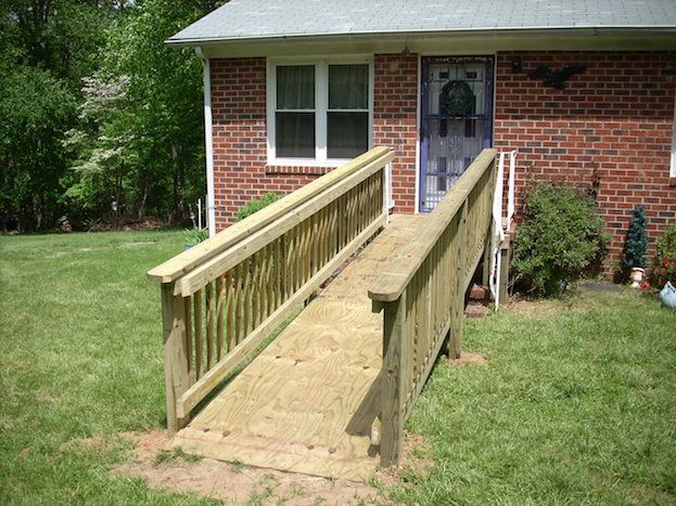 How to build a wheelchair ramp handicap ramp slope for Ada mobile homes