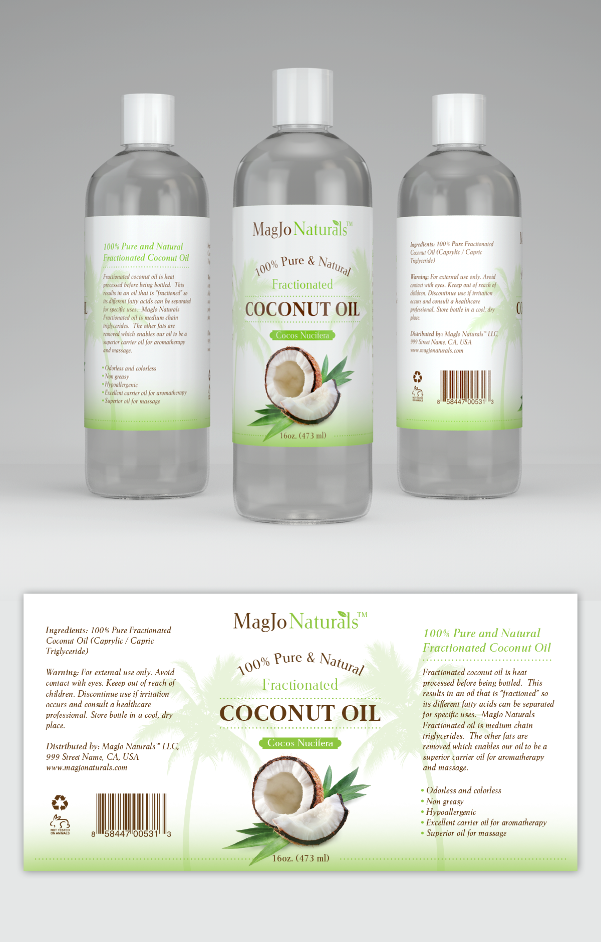 Label Design For Coconut Oil  Designs  All About Coconut
