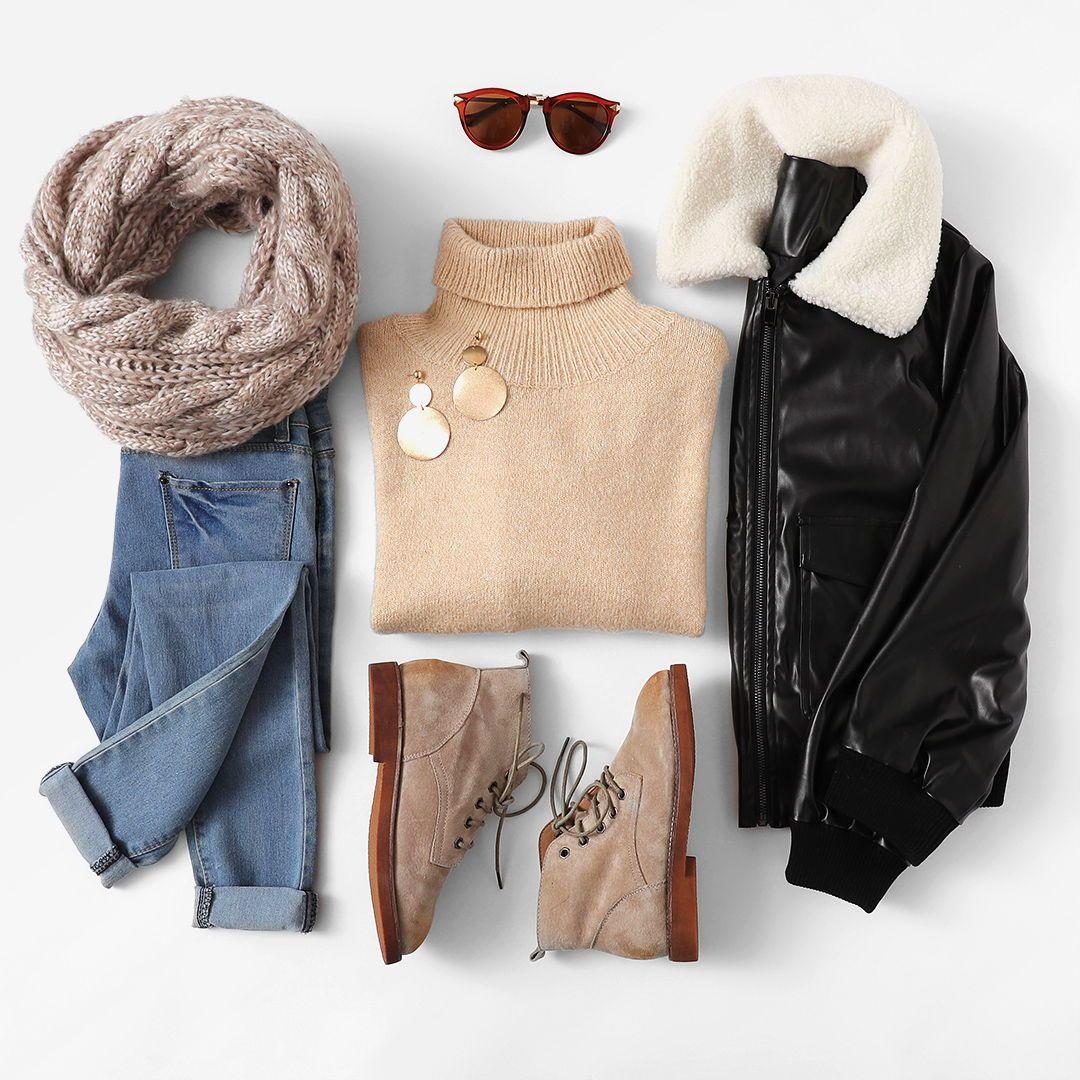 Mix & Match Faux Fur Detail Pocket Front Jacket