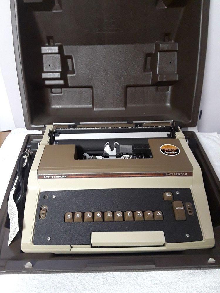 Rare Smith Corona Enterprise Ii Model 4l Typewriter Free Shipping Case Typewriter Writing Tools Rare