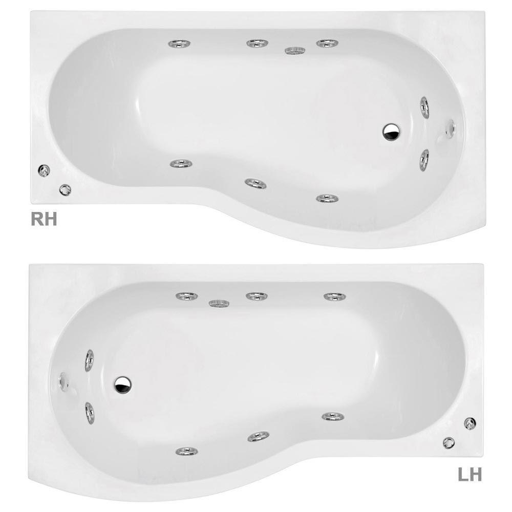 Laguna Whirlpool Spa 8 Jet B-Shaped Shower Bath with Screen + Panel