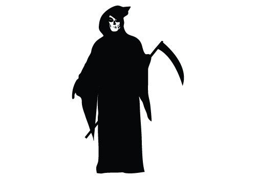 Creepy Grim Reaper Hand Drawn Illustration Pointillism Isolated Vector Art Beautiful Black Png And Vector With Transparent Background For Free Download Grim Reaper Drawing Grim Reaper Art Reaper Drawing