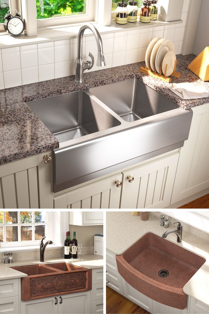 Apron Sinks Kitchen Remodel Rustic Farmhouse Kitchen