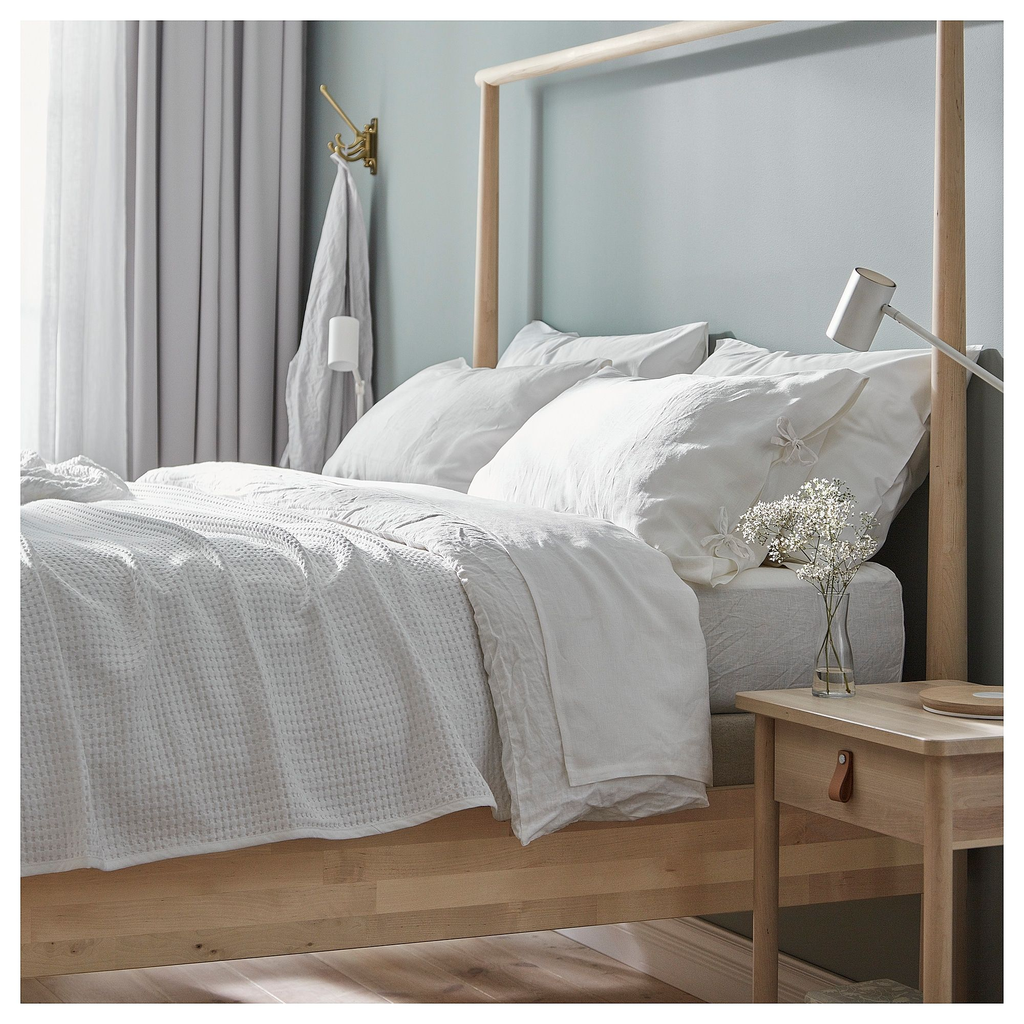 Ikea Puderviva Duvet Cover And Pillowcase S White