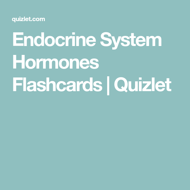 Endocrine System Hormones Flashcards | Quizlet | Anatomy and ...