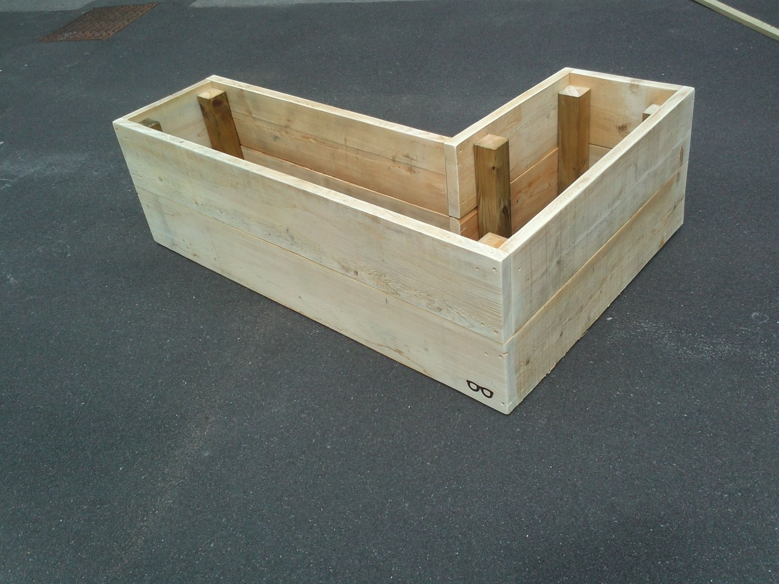 Classic Upcycled Scaffold Board Planter Garden