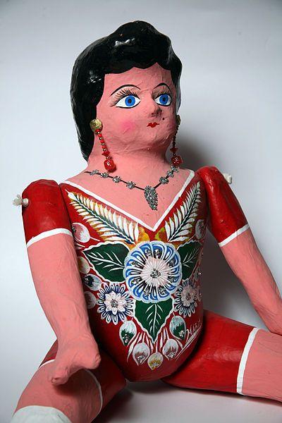 Paper mache Mexican doll