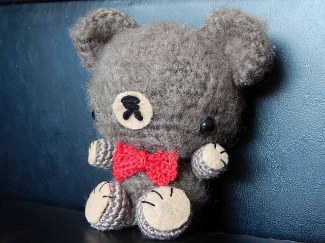 Amigurumi Patterns Tumblr : Mini bowtie bear approx inches free amigurumi pattern