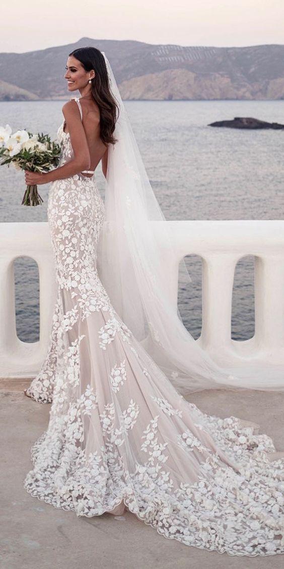 Zeemeermin trouwjurken zijn ideaal voor de bruid die sexy op haar wil voelen we …
