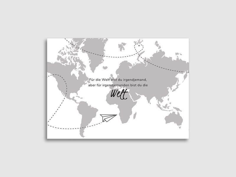 Save The Date Karten Weltkarte Im Reiselustigen Design Online